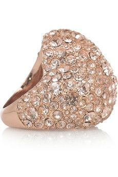 Marc by Marc Jacobs | Heart pavé crystal ring | NET-A-PORTER.COM - StyleSays