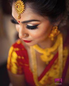 Model & Bride Photo by Mua & Hair Tamilbridal styling by Punjabi Bride, Punjabi Wedding, South Asian Bride, South Asian Wedding, Indian Bridal Makeup, Bridal Hair, Ar Photography, Tamil Brides, Tamil Wedding