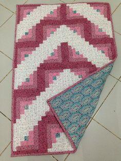 Log Cabin for Sajadah - pink white