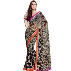 Shop Now - http://www.valehri.com/black-embroidered-saree-with-blouse-491