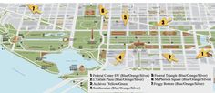 Use this guide to find your way around the National Mall in Washington, DC as well as a Self Guided Tour of the Memorials.