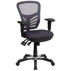 MidBack Dark Gray Mesh Swivel Task Chair with Triple Paddle Control ** Continue to the product at the image link.Note:It is affiliate link to Amazon. #commentbelow