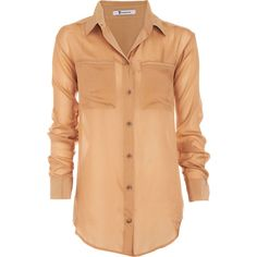 T by Alexander Wang Button Front Blouse - Flesh size Extra Small ($109) ❤ liked on Polyvore featuring tops, blouses, shirts, blusas, clothing & accessories, women, beige shirt, button front shirt, button front blouse and beige top
