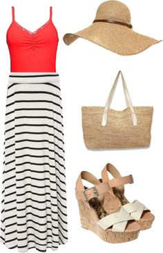 """""""Let's go to the Beach-each"""" by thegirlinthepinkdress ❤ liked on Polyvore"""
