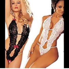 Black and white lingerie Both size medium/large $13 each both for $25 Intimates & Sleepwear