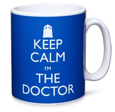 This should be my new mug for the office! ThinkGeek :: Doctor Who Keep Calm I'm The Doctor Mug