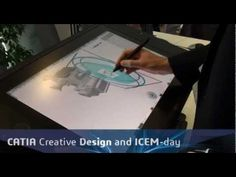 Wacom Cintiq 24HD Touch demo of CATIA Natural Sketch at the Dassault Systèmes 3DExperience Forum - YouTube
