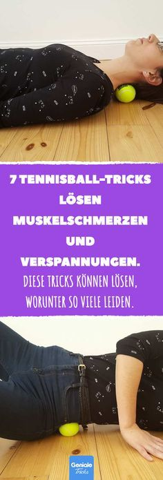 7 tennis ball tricks relieve muscle pain and tension. - 7 tennis ball tricks re. - 7 tennis ball tricks relieve muscle pain and tension. Fitness Workouts, Sport Fitness, Pilates Workout, Yoga Fitness, Fitness Tips, Fitness Motivation, Health Fitness, Healthy Sport, Muscle Pain