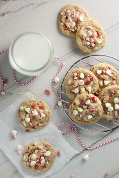 White Chocolate Peppermint Crunch Cookies - Baked in AZ