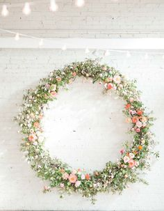 This Downtown Birmingham Wedding Has a Doughnut Wall! – Heirloom Wedding Station… This Downtown Birmingham Wedding Has a Doughnut Wall! – Heirloom Wedding Stationery from Wild Joy Studios Church Wedding Flowers, Spring Wedding Flowers, Wedding Wreaths, Flower Bouquet Wedding, Floral Wedding, Rustic Wedding Decorations, Spring Weddings, Flower Bouquets, Wedding Beach