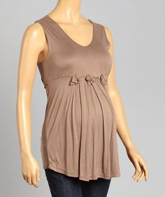 Loving this Brown Rosette Maternity V-Neck Top - Women on #zulily! #zulilyfinds