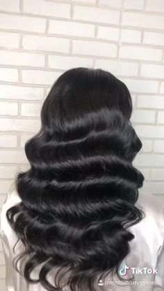 Long Hair Waves, Curls For Long Hair, Waves Curls, Pin Curls, Edwardian Hairstyles, Vintage Hairstyles, Wedding Hairstyles, Vintage Waves Hair, Vintage Curls