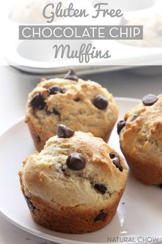 Gluten Free Chocolate Chip Muffins // Simple, delicious and easy to make. These are best gluten free muffins you will ever eat!