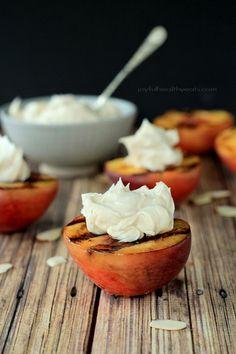 ... Peaches with Maple Honey Mascarpone Cheese | www.joyfulhealthyeats.com