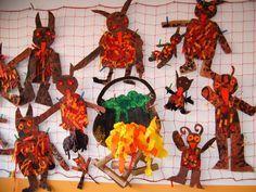mikulas cert a andel  : peklo certi 150x150 Peklo Christmas Time, Christmas Crafts, Carnival, Preschool, Activities, Halloween, Winter, Pictures, Painting