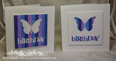 Simply One Of A Kind: Inlaid dies ~ handmade birthday card, could be any greeting