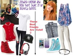 """""""Zendaya and Bella Shake It Up Inspired Outfits"""" by teddybear-i ❤ liked on Polyvore"""