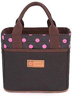 Magicoo Lovely Cute Drawstring Picnic Lunch Bag Tote Food Storage Containers (Black-1) ❤ Magicoo Polka Dot Print, Polka Dots, Picnic Lunches, Food Storage Containers, Home Gifts, Tote Bag, Cute, Bags, Handbags