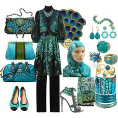 ღღღ  Peacock polyvore board - love a bunch of these accessories.  :-)