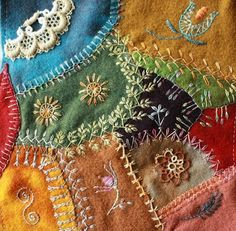 CRAZY QUILTING INTERNATIONAL: Wool DYB Round Robin 2010