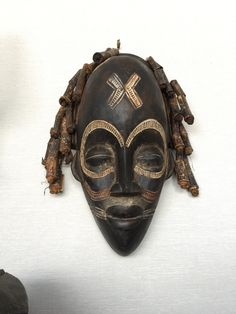 African mask by GalerieHam on Etsy https://www.etsy.com/listing/231120660/african-mask