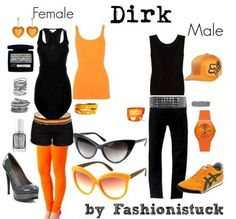 Dirk Strider I would wear black high top converse instead of heels for the female