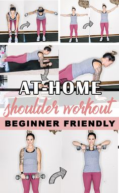 Get ready for cute summer dresses with this at-home shoulder workout. Beginner friendly and all you need is dumbbells Shoulder Workout Women, Shoulder Workout At Home, Fitness Tips, Fitness Motivation, Fitness Exercises, Fun Workouts, At Home Workouts, Weight Bearing Exercises, Cardio At Home