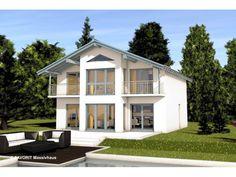 Alpenland 160 - #Einfamilienhaus von Bau Braune Inh. Sven Lehner | HausXXL #Massivhaus #Energiesparhaus #Nullenergiehaus #Landhausstil #Satteldach