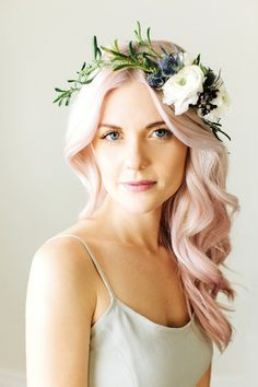 Amp up your blonde locks with hints of pink.
