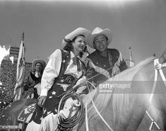Dale Evans and her favorite cowboy, husband Roy Rogers, enjoyed their... News Photo - Getty Images Apple Valley California, Dale Evans, Roy Rogers, Happy Trails, Still Image, In Hollywood, Cowboys, Vintage Photos, My Hero