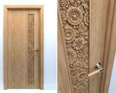 Lesser Seen Options For Custom Wood Interior Doors Wooden Front Door Design, Door Gate Design, Wooden Front Doors, Wood Doors, Pooja Room Door Design, Door Design Interior, Modern Wooden Doors, Decoration, Veneer Door