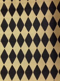 Black and Gold Harlequin Dots Fabric  Upholstery Fabric By