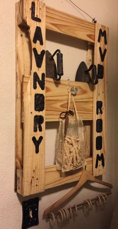 I love working with old pallets...made this for my laundry/mud room!...diy