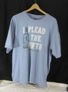 Tommy Bahama Mens Tee Shirt Size XL Blue Plead the Fifth Rum 100% Cotton  3df69e5fc