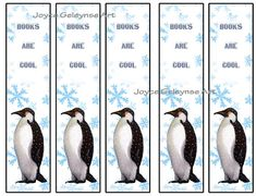 Instantly Printable Bookmarks Penguin Books are Cool Kids Party by joyart, $2.00