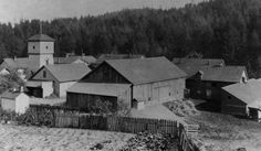 The Hillside Farm, a 160-acre poor farm owned and operated by Multnomah County from 1868 to 1911. (Photo courtesy of the Oregon Historical Society)