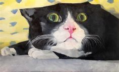 """Daily Paintworks - """"Clyde"""" - Original Fine Art for Sale - © Dawn Johnston"""