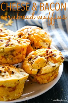 These Cheddar Cheese and Bacon Cornbread Muffins make the perfect snack or side dish for fall! Perfectly savoury and perfect with soup, stews, and for the holidays! Recipe from thebusybaker.ca! #muffins #cornbread #cornmeal #corn #fall #winter #soup #stew #bacon #cheese #savory Bacon Cornbread, Cornbread Muffins, Savory Muffins, Cheese And Bacon Muffins, Savory Cornbread Recipe, Corn Muffins, Cornmeal Recipes, Cornmeal Muffins Recipe, Muffin Tin Recipes