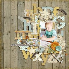 First Day of Preschool - Scrapbook.com #scrapbooklayouts