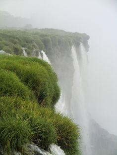 Grassy waterfall... I wonder where this is, and how soon I can get there
