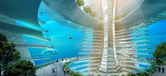 Floating City concept by AT Design Office