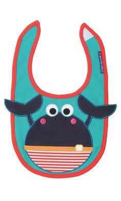 Crispin the Crab Bib - NEW - Boy | Olive and Moss