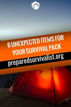 besides the essential survival gear basics you have in your survival pack there are some unusual survival items you can take with you. This post has 6 unexpected items for your survival pack that you can use next time you pack your survival gear Survival Items, Survival Supplies, Survival Tools, Survival Prepping, Emergency Preparedness, Survival Hacks, Survival Quotes, Survival Gadgets, Survival Equipment
