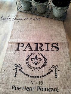 Superb Burlap French Inspired Table Runner | Rustic Vintage Farmhouse Styling  Ideas | DIY Weddings