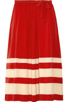 Sonia Rykiel striped silk-crepe midi