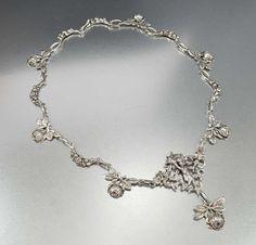 Antique Victorian Coppini Peruzzi Silver Necklace – Boylerpf