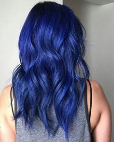 blue hair, dark, dye
