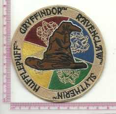 harry potter hogwarts  iron on patch embirodered