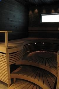 """As my novel """"Hippie Love"""" illustrates, we came in all varieties . For some hippies, it led to this . One sauna interior."""