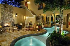 A meandering, courtyard pool near Windermere brought a gold award to Tropical Pools & Spas.